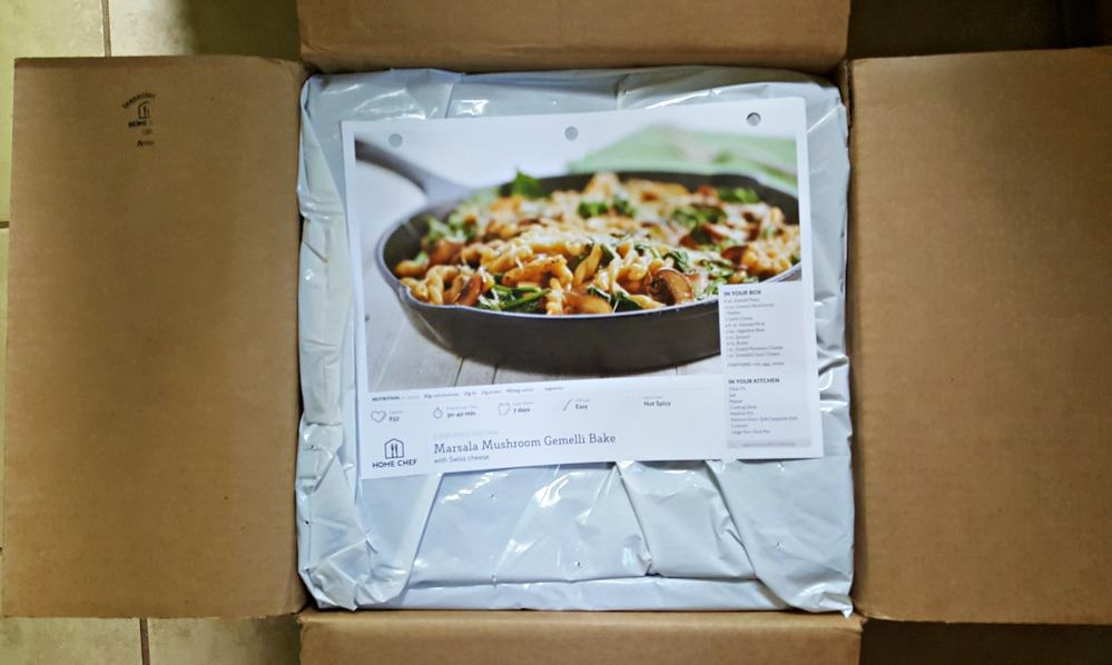 home chef box opened