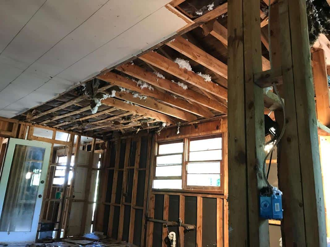 home remodel kitchen ceiling coming down