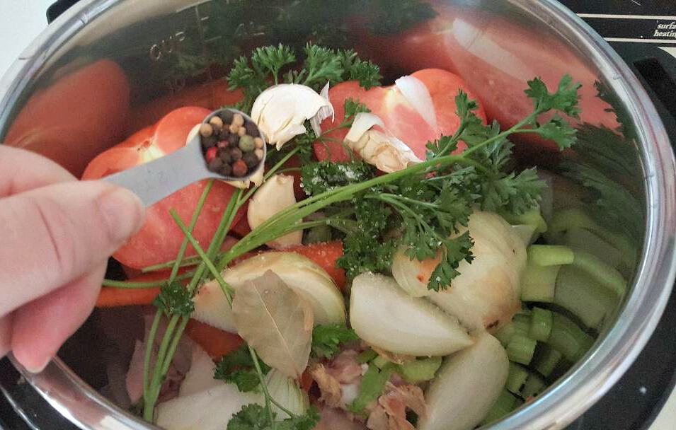 instant pot chicken broth peppercorns