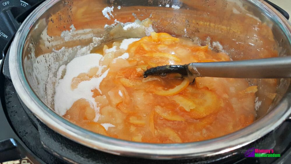 Instant Pot Orange Marmalade Recipe, instant pot orange marmalade add sugar