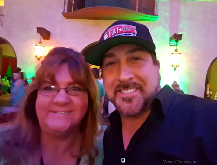 joey fatone at the pete's dragon premiere party