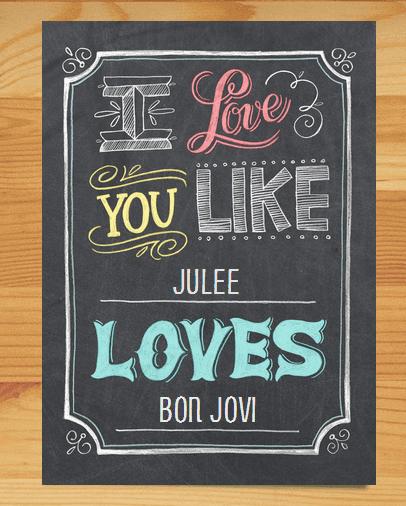like julee loves bon jovi