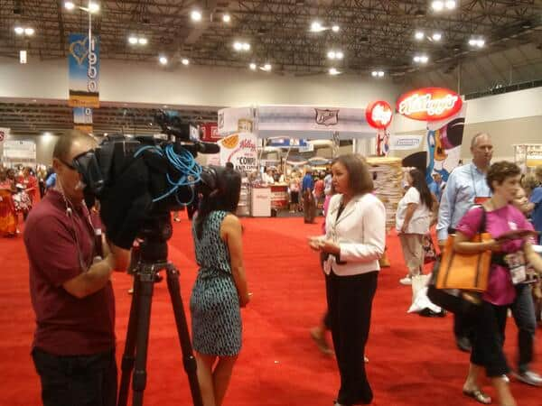 marilyn moody chatting with KCTV