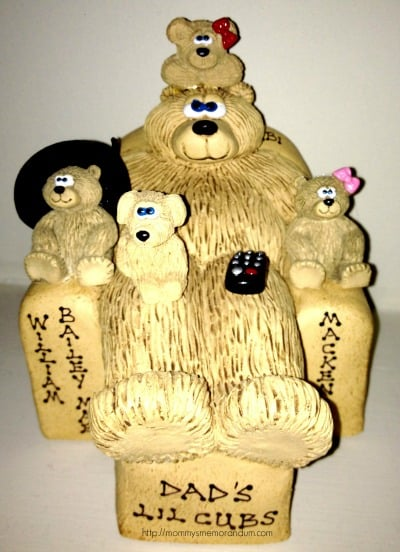 our bears on chairs