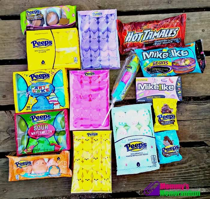 assortment of peeps candy