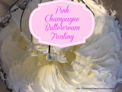 pink champagne frosting recipe