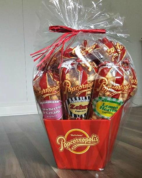 popcornopolis 7 cone gift basket