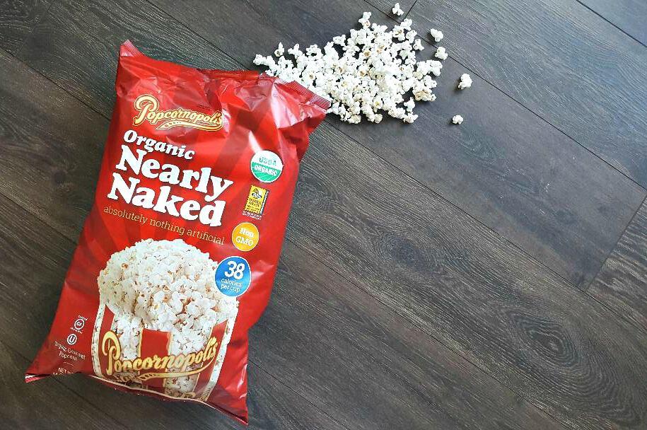 popcornopolis nearly naked popcorn bag opened showing popcorn