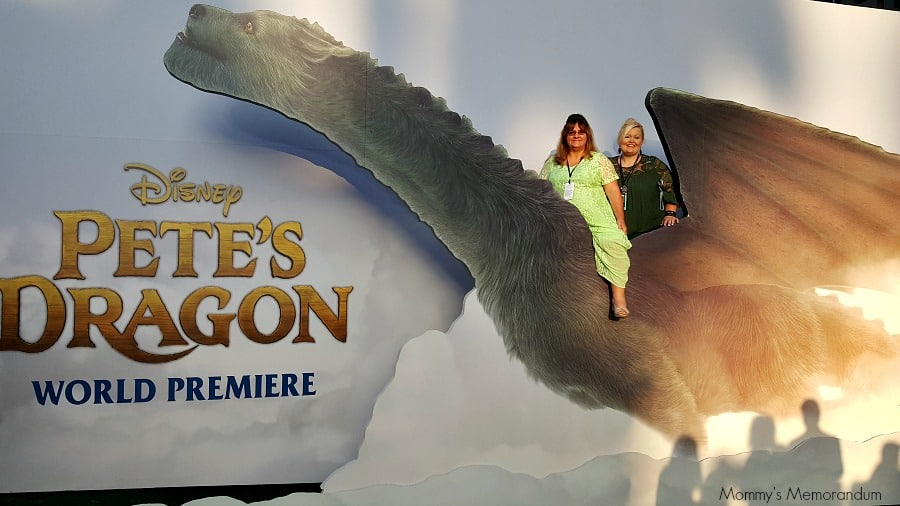 posing on the red carpet of Disney's Pete's Dragon
