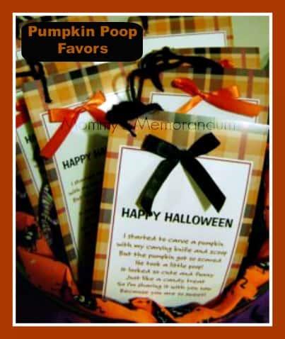 pumpkin poop poem, pumpkin poop favors, pumpkin poop cards