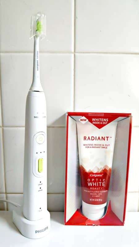 radiant colgate optic white
