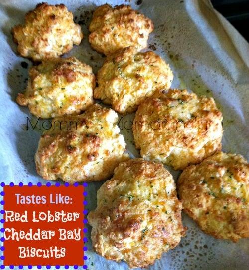 red lobster cheddar Bay Biscuits #recipe #copycat #nom #biscuits