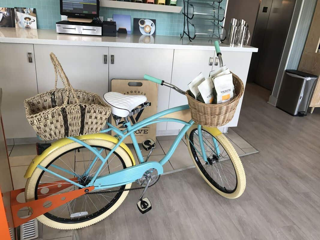 santa cruz dream inn beach bike with verve coffee