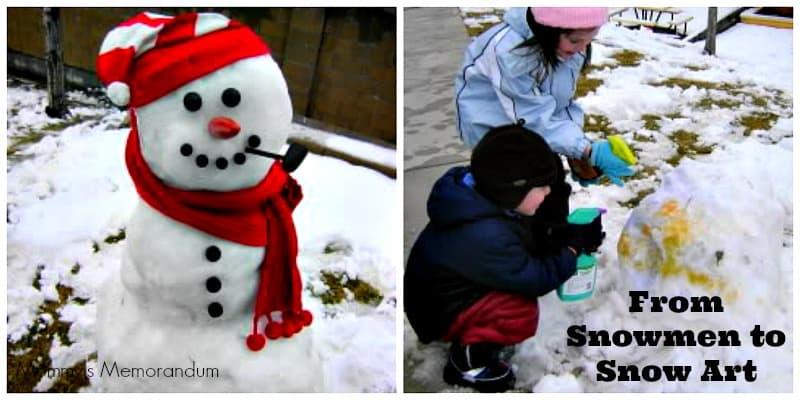 snowman to snow art Collage