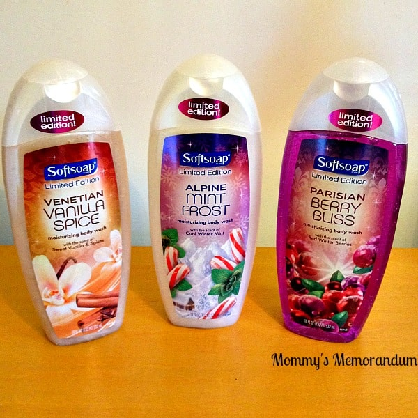 softsoap trio holiday scents