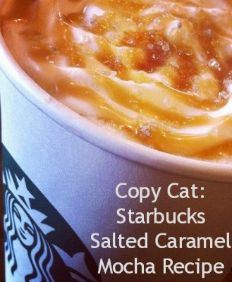 This Copy Cat: Starbucks Salted Caramel Mocha Recipe is the perfect pairing of coffee and caramel. It's warmth soothes and the taste of salted caramel is always a favorite! Salted Caramel just keeps trending, once a fall and holiday flavor, it is now an all-year-long indulgence.