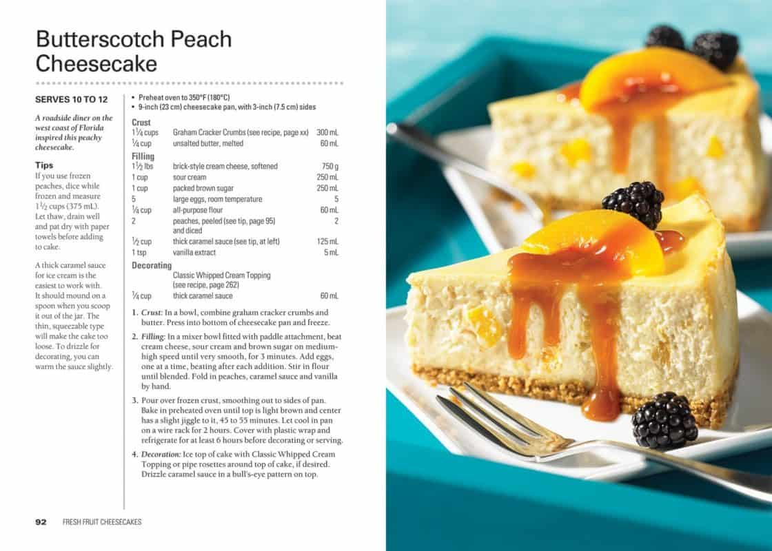 Enjoy the creamy texture of cheesecake with the flavors of butterscotch and peach in this delicious recipe.  #cheesecake #peachcheesecake #butterscotch cheesecake