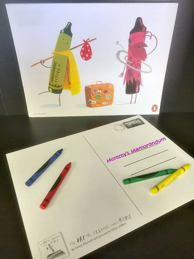 the day the crayons quit postcards