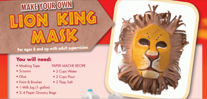 the lion king mask activity