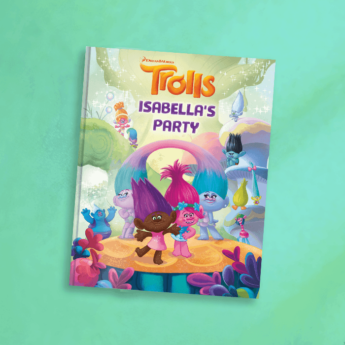 trolls personalized book