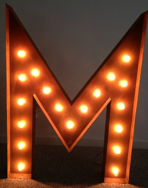 vintage marquee letters m