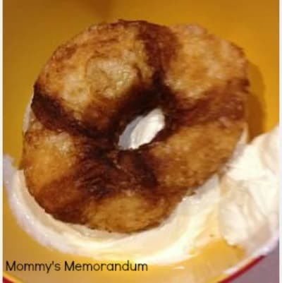 white frosting on cronut