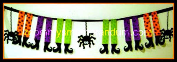 This No-Sew Spider and Witch Halloween Banner Tutorial is easy to put together in a few hours.
