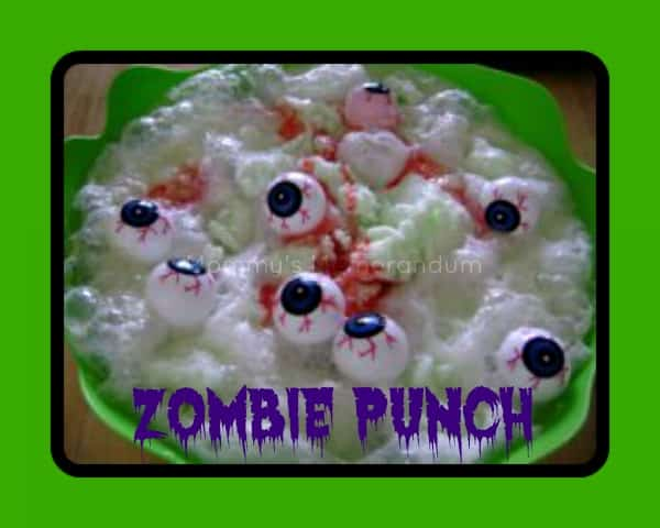 zombie punch #recipe #halloween #yum